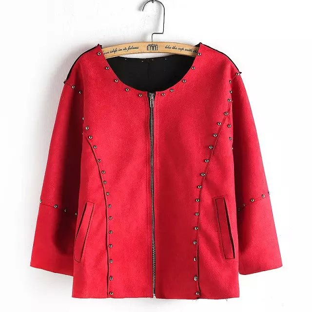Suede Leather Jacket for Women Fashion Autumn Zipper ...
