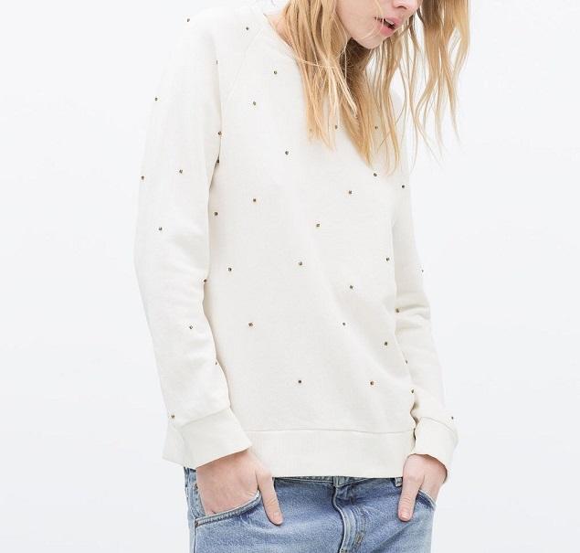 sweatshirt for women Autumn Fashion Brief Beading Black ...