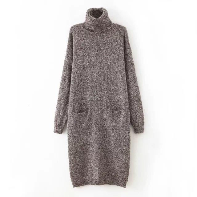 Winter Fashion women Elegant European Style Turtleneck ...