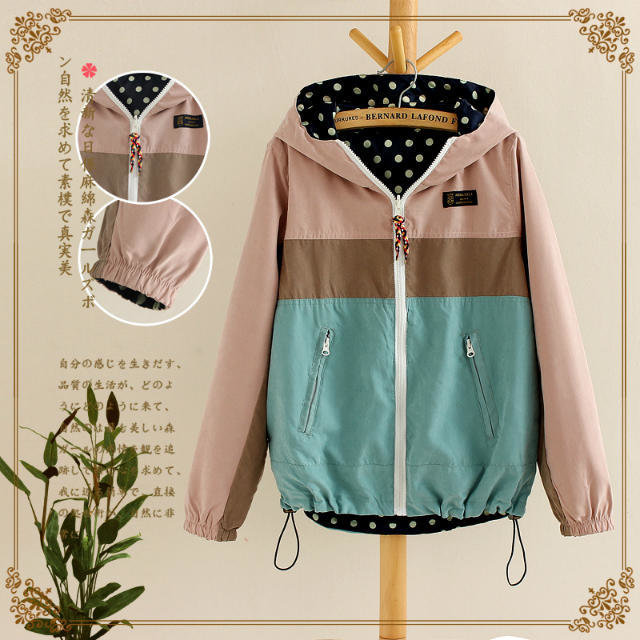 Winter Jacket Women Elegant Cotton Double Side polka ...