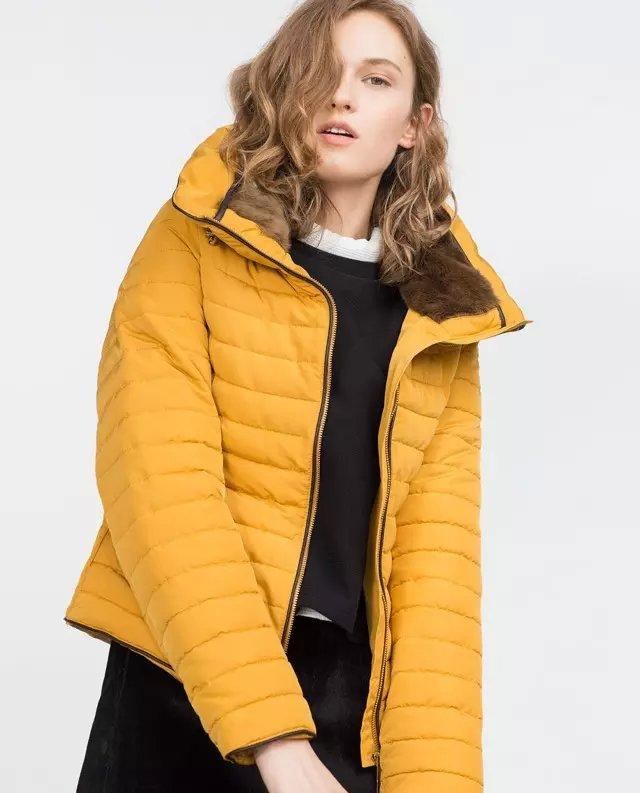 Winter Jacket Women Elegant Yellow Thick Warm Cotton ...
