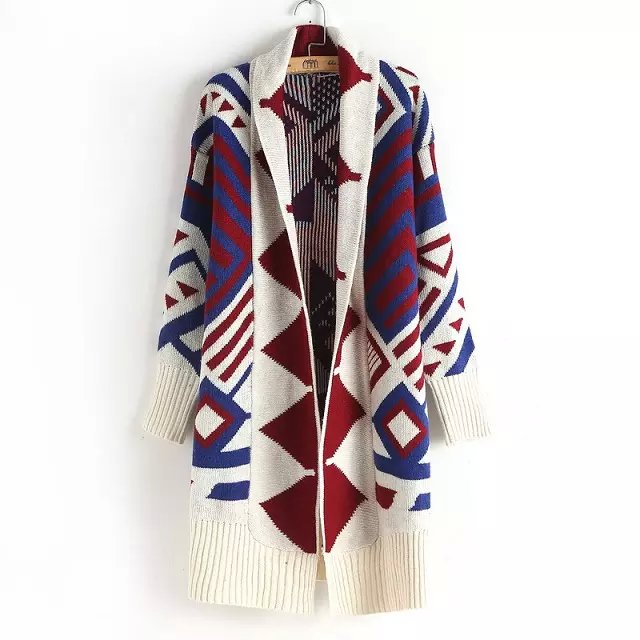 Winter thick warm Fashion Women Elegant Geometric pattern ...