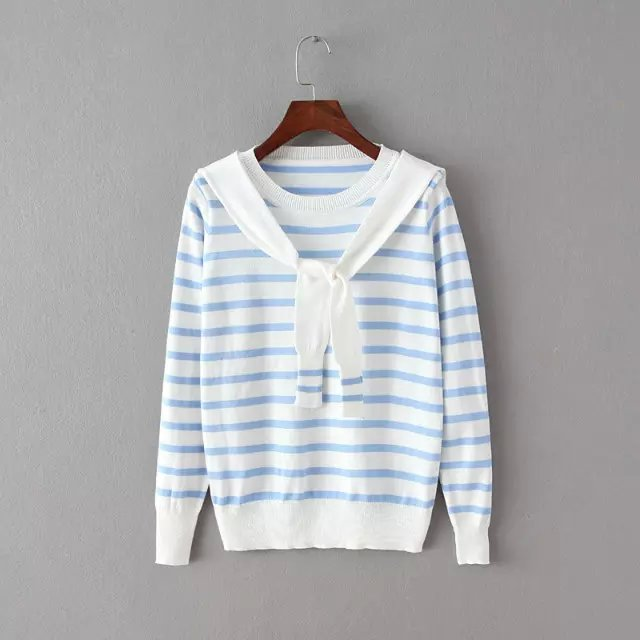 Winter women fashion striped School Style Sweaters pullovers ...