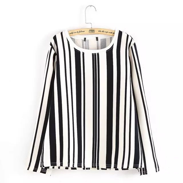 Women Autumn Blouse Fashion Striped Print Streetwear ...