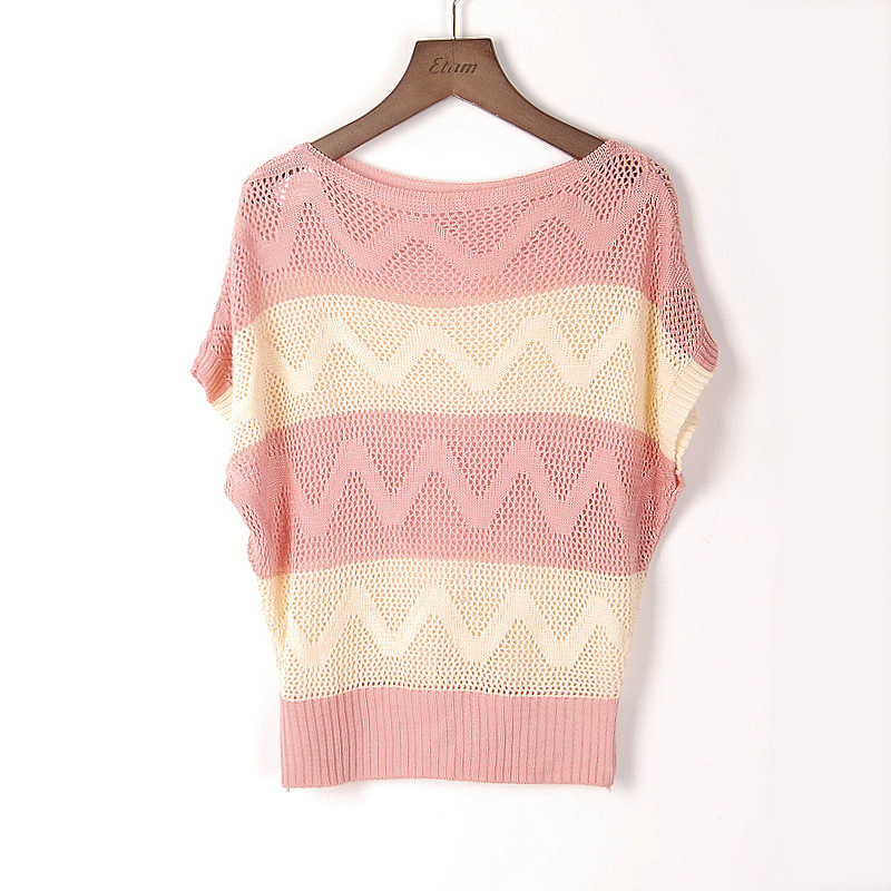 Women Autumn Knitted Sweaters Fashion Striped Wave pattern ...