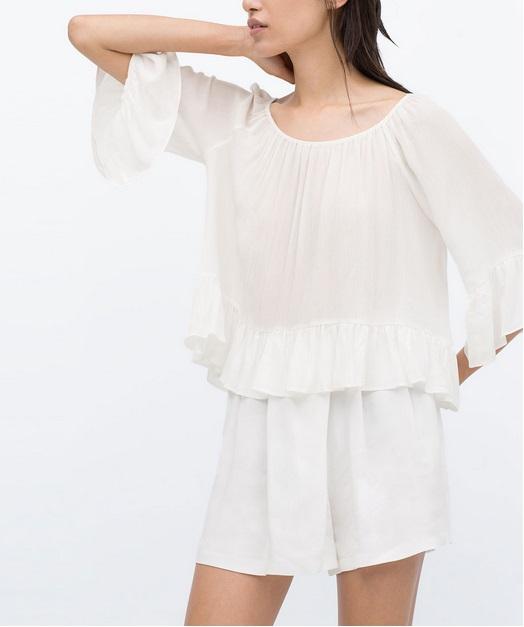 Women blouses Fashion Elegant Vintage Lace flare sleeve ...