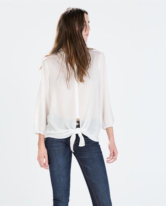 women elegant vintage Bow blouses White Brief Street ...