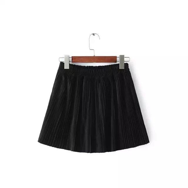 Women Fashion Black Faux suede Leather Elastic waist ...