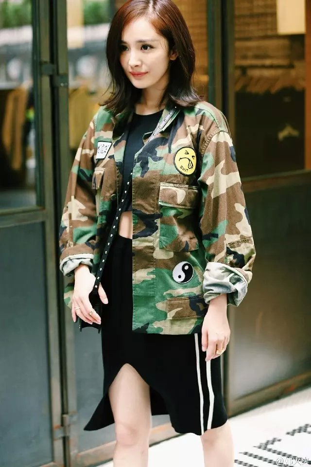 Women jacket Fashion Elegant Camouflage Print Patch ...