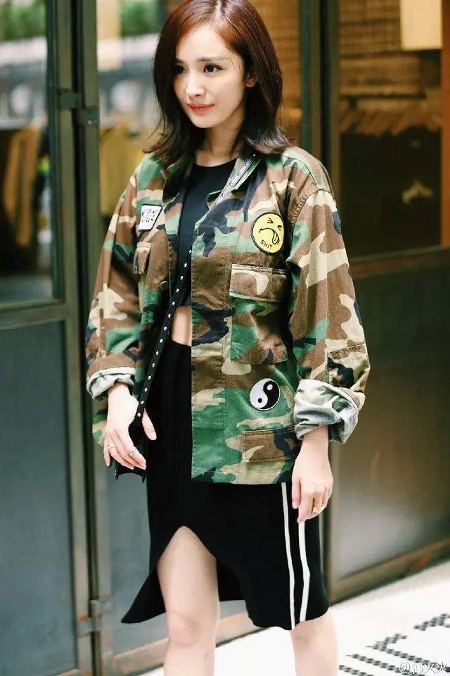 Women jacket Fashion Elegant Camouflage Print Patch ...