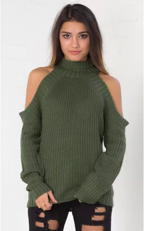 Women Knitted Sweaters American fashion Sexy Shoulder ...