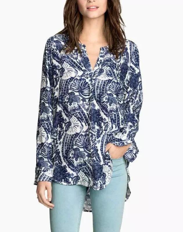 Women long blouses Fashion Autumn Elegant Irregular ...