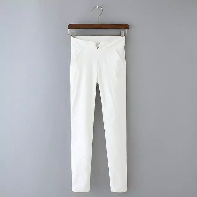 Women Pants Fashion office lady sexy White Stretch Pencil ...
