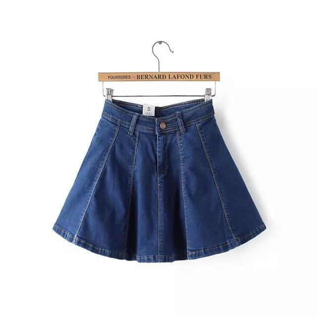 women skirt Fashion Summer Female Zipper Denim Buttons ...