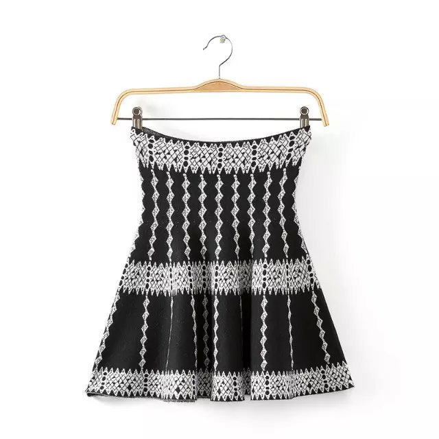 Women Skirts Fashion Korea Vintage Wave pattern Knitting ...