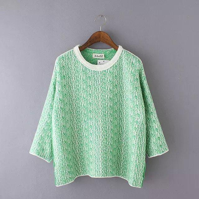 Women sweaters Autumn Fashion Green Pullover knitwear ...