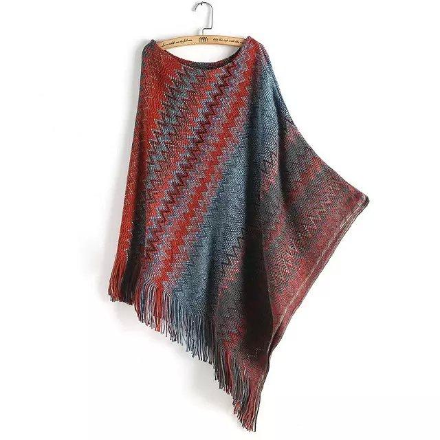 Women Sweaters Fashion Autumn European style color Wave ...