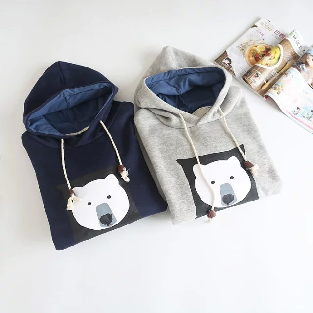 Women sweatshirt Fashion winter thick warm bear print ...