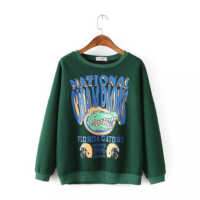 Women Sweatshirts Autumn Fashion Cartoon Letter Print ...