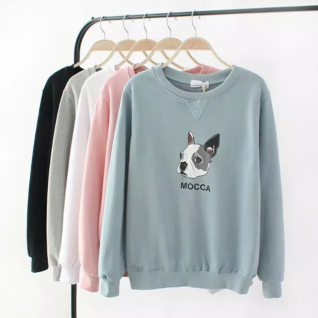 Women Sweatshirts Autumn Fashion cotton Dog print sport ...