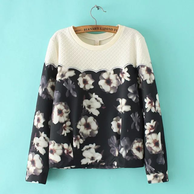 Women Sweatshirts Autumn Fashion cotton Floral print ...