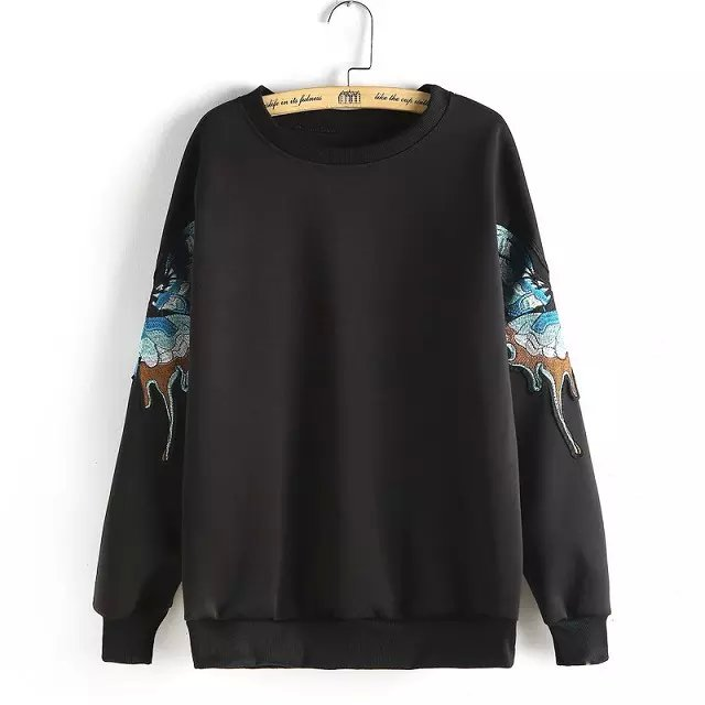 Women Sweatshirts Autumn Fashion Embroidery Pullover ...