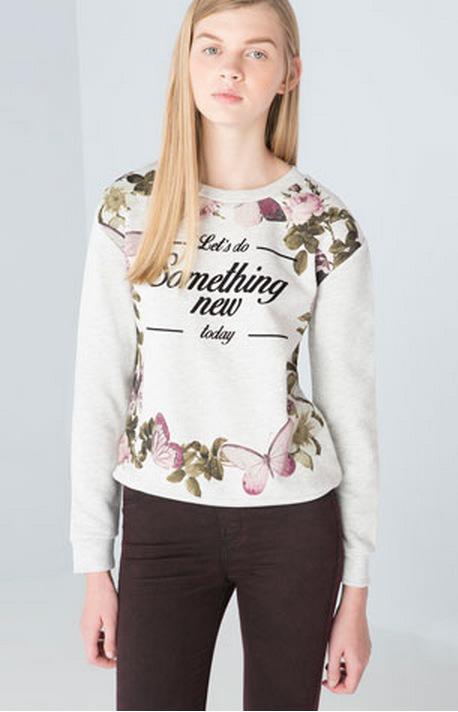 Women Sweatshirts Autumn Fashion Flocking Letter Floral ...