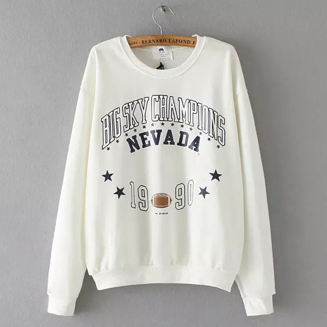 Women Sweatshirts Autumn Fashion white Letter number ...