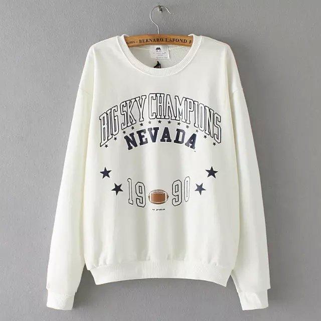 Women Sweatshirts Autumn Fashion white Letter number ...
