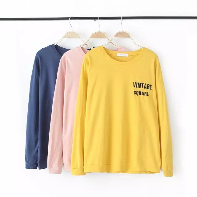 Women Sweatshirts Fashion cotton Letter Embroidery Sports ...