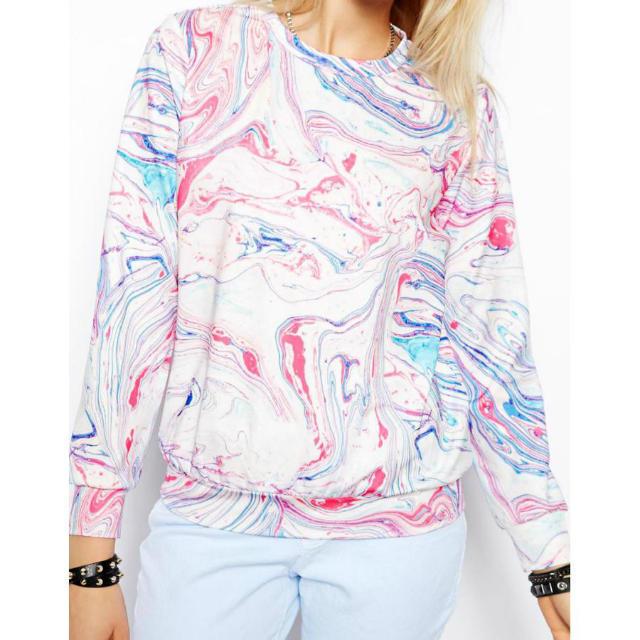 Women Sweatshirts Fashion Dream striped Pattern O Neck ...