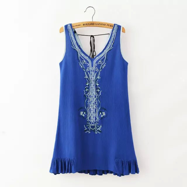 Women tanks Dress Fashion Autumn vintage embroidery ...