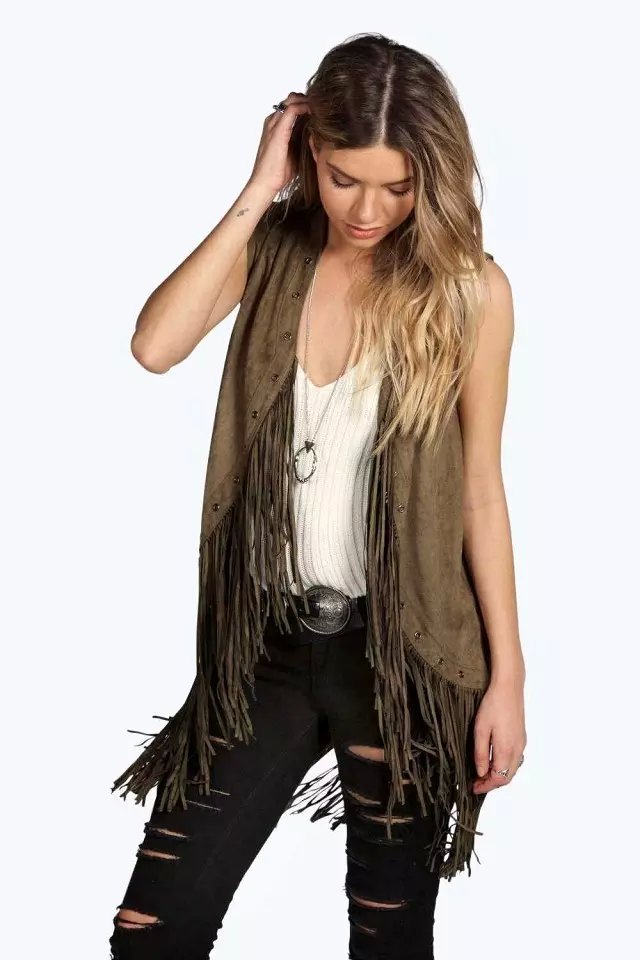 Women Waistcoat Autumn Fashion sexy Suede Leather Vest ...