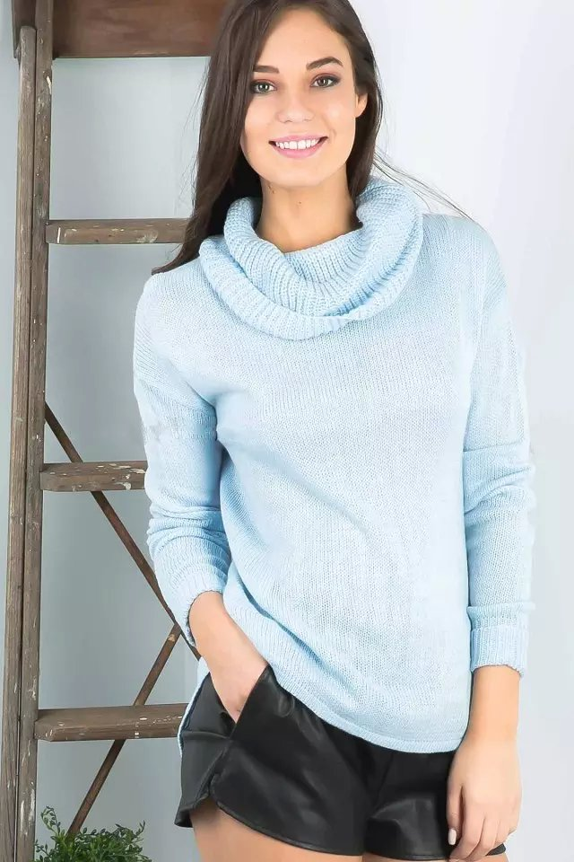 Women winter Knitted Sweaters American fashion Blue ...