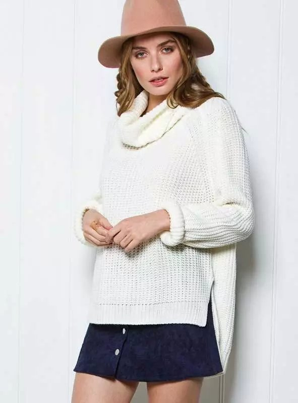 Women winter Knitted Sweaters American fashion white ...