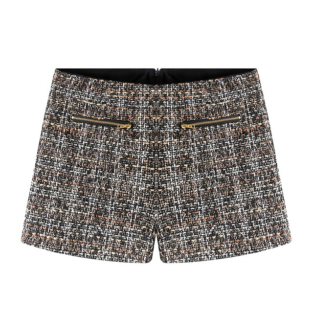 Wool shorts for women Fashion Autumn Knitted Patchwork ...