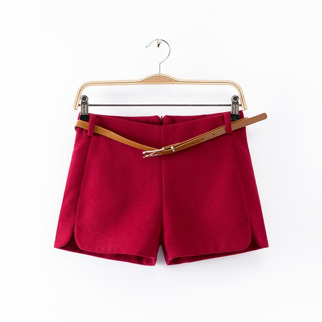 Wool shorts for women Fashion Autumn Office Lady with ...