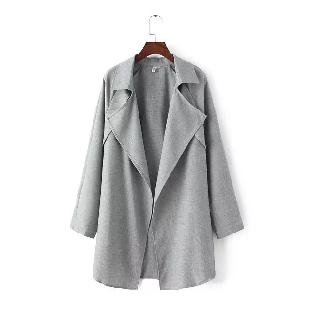 Fashion Autumn Style Office Lady elegant Cotton trench ...