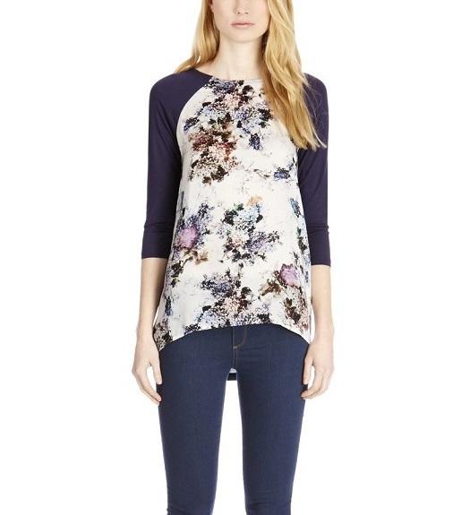 Fashion Autumn women Elegant Floral print T-shirt basic ...
