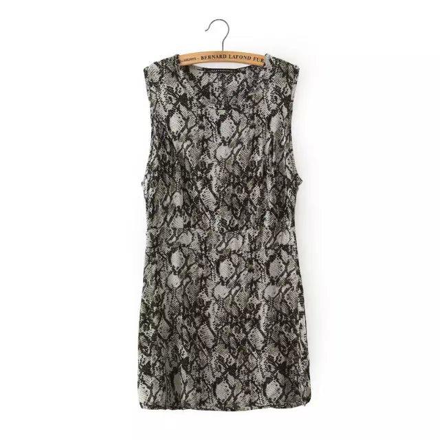 Fashion brand women elegant Snake print Dress vintage ...