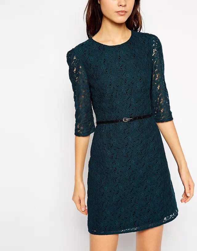 Fashion brand women Vintage sexy lace Dress stylish ...