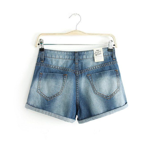 fashion Ladies' Elegant blue denim shorts quality casual ...