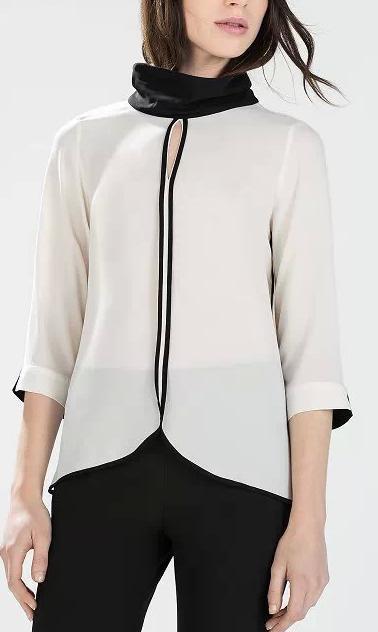 Fashion Ladies elegant Chiffon Backless blouses vintage ...