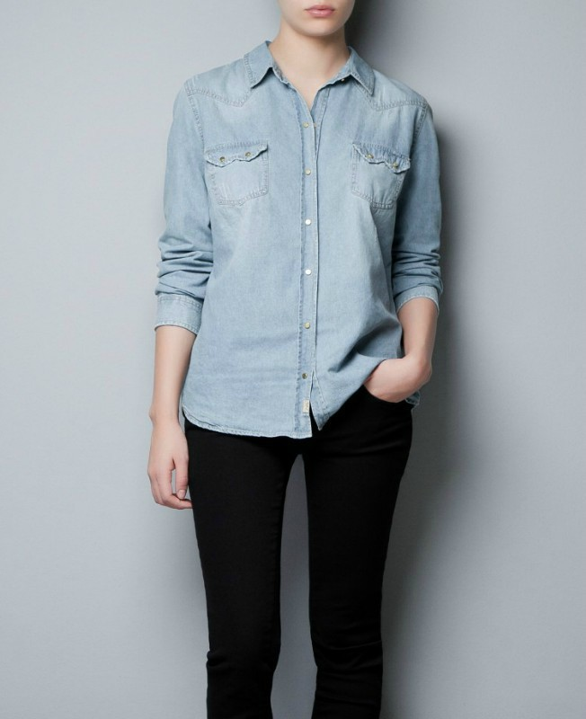 Fashion Ladies' elegant Classic blue Denim Turn-down ...