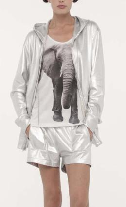Fashion Ladies Elegant elephant printed T shirt O Neck ...