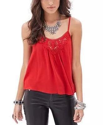 Fashion Ladies Elegant Lace Patchwork short T shirt ...
