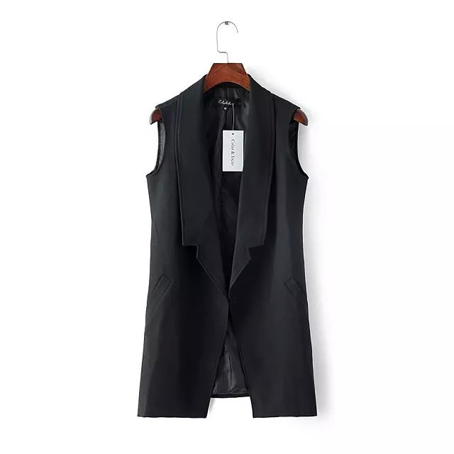 Fashion New Office Lady Elegant jackets Vests Sleeveless ...