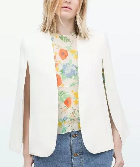 Fashion Office Lady elegant jackets Cloak long sleeve ...