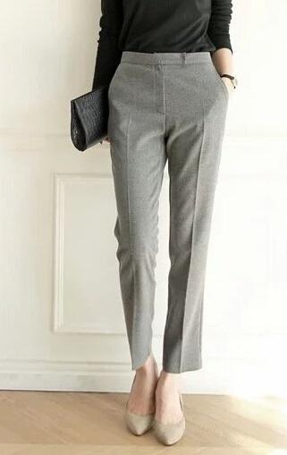 Fashion Office Lady Elegant Suit Pant cozy vintage Zipper ...