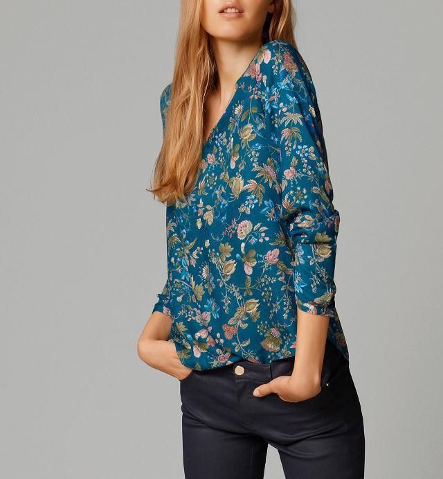 Fashion Spring women Elegant vintage floral print blouses ...